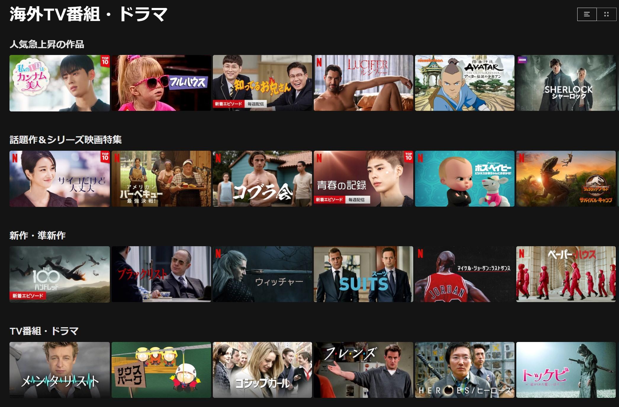 Netflix海外ドラマ