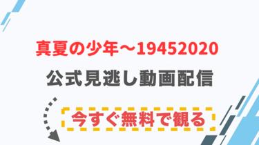 【ドラマ】真夏の少年~19452020の配信情報|公式の無料見逃し動画視聴方法