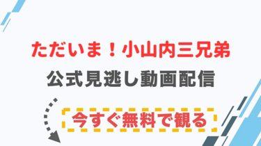 【ドラマ】ただいま!小山内三兄弟の配信情報|公式の無料見逃し動画視聴方法